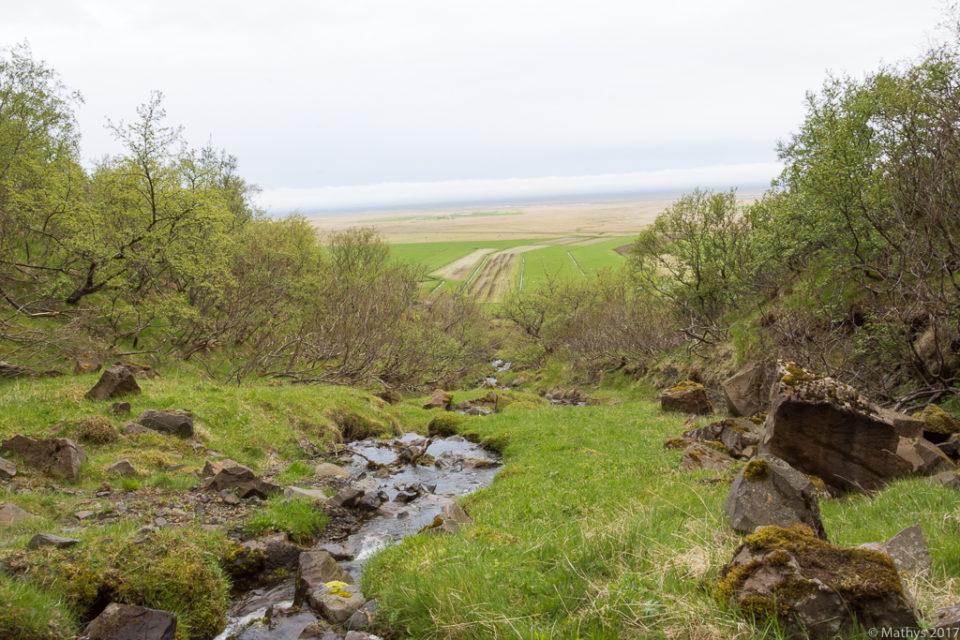 Rivière, Campement, Svínafell, montagnes, pâtures, alpinisme, Skaftafell, Islande, randonnée, roche, aventure, expédition